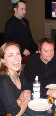 Jane Loughman and David Hewlett