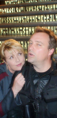 Amanda Tapping and David Hewlett