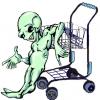 Alien shopping cart