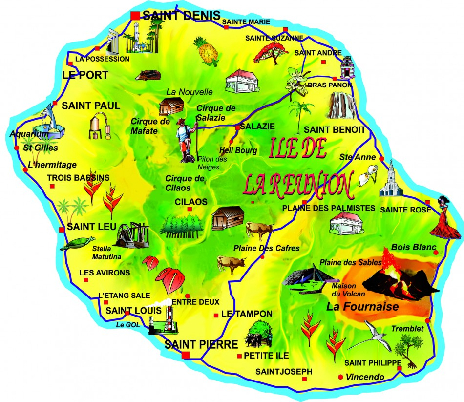 la réunion carte touristique la réunion carte touristique Archives   Voyages   Cartes