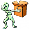 Alien panier